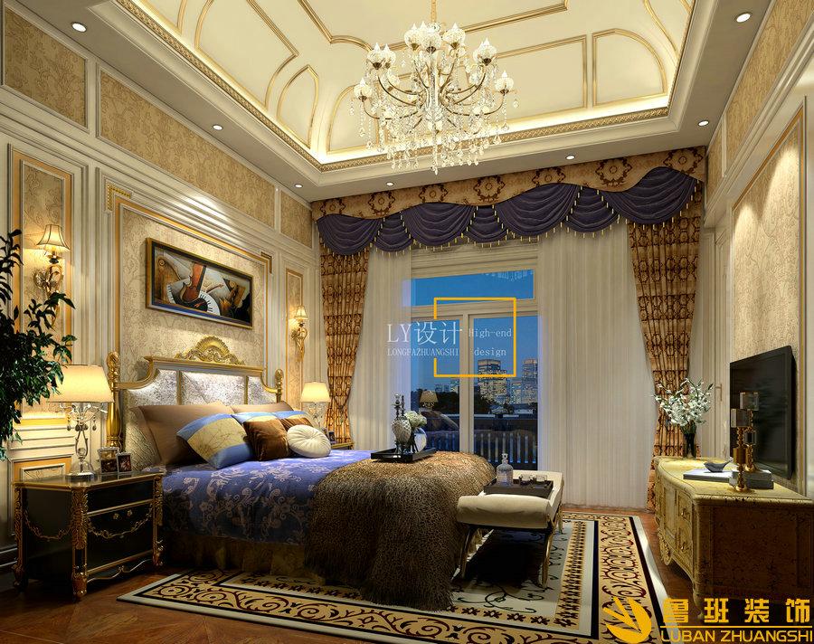 自建别墅设计装修-340平方卧室
