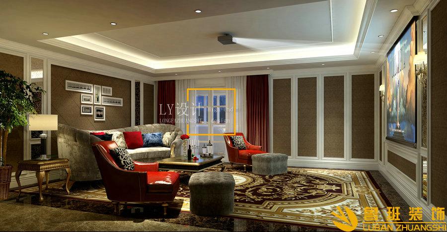 自建别墅设计装修-340平方影音室