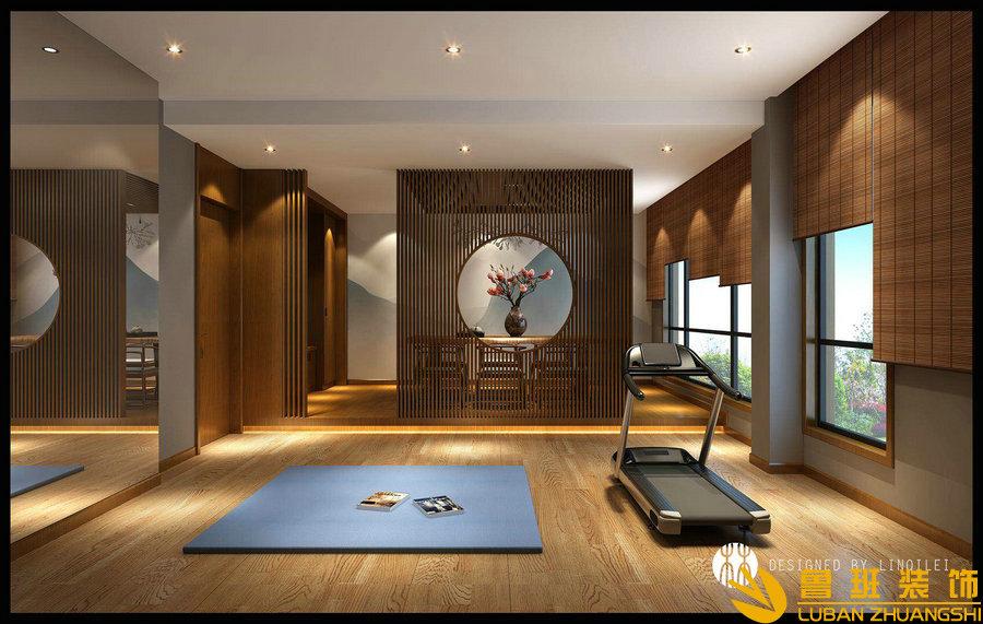 彩叠园450平现代别墅装修设计玄关