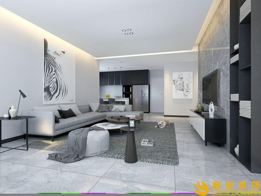 比华利国际城126平新房设计装修效果图