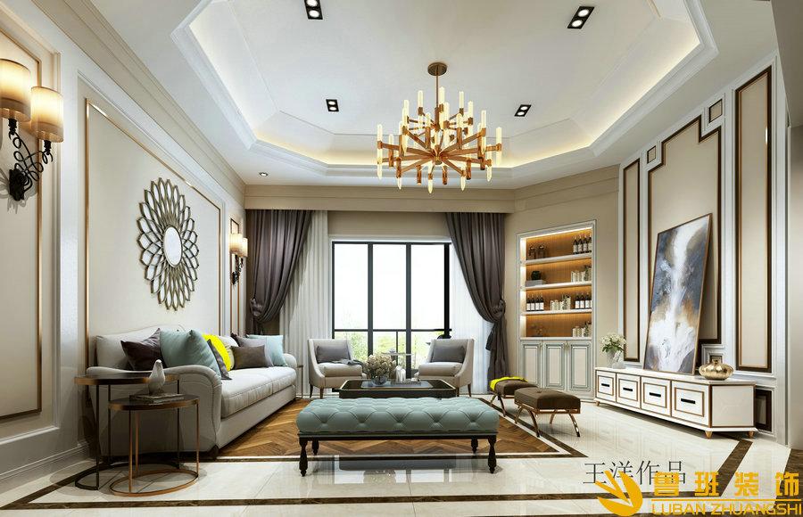 华润翡翠城270跃层装修效果图 简欧风格设计案例