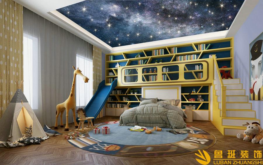 龙湖长桥郡660平现代别墅设计装修儿童房
