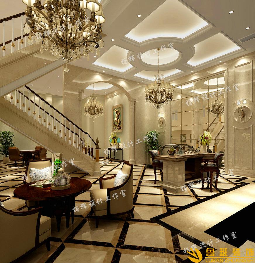 华侨城东岸320平别墅装修设计效果图