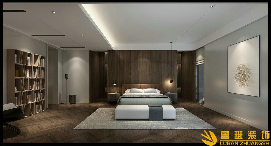 龙湖世纪峰景380大平层设计装修卧室