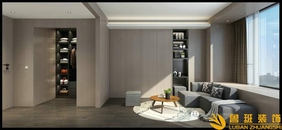 蔚蓝卡地亚花园城240平层设计装修客厅