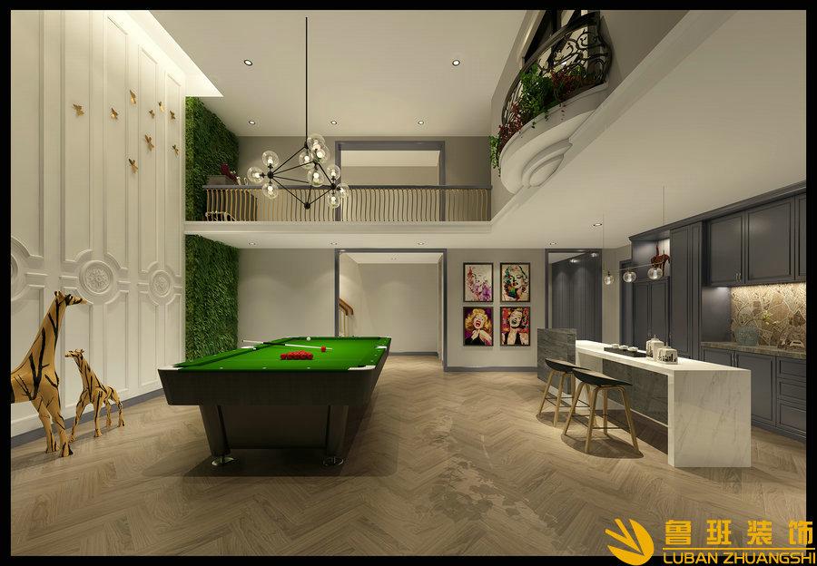 西子城林奇磊420别墅设计装修台球室