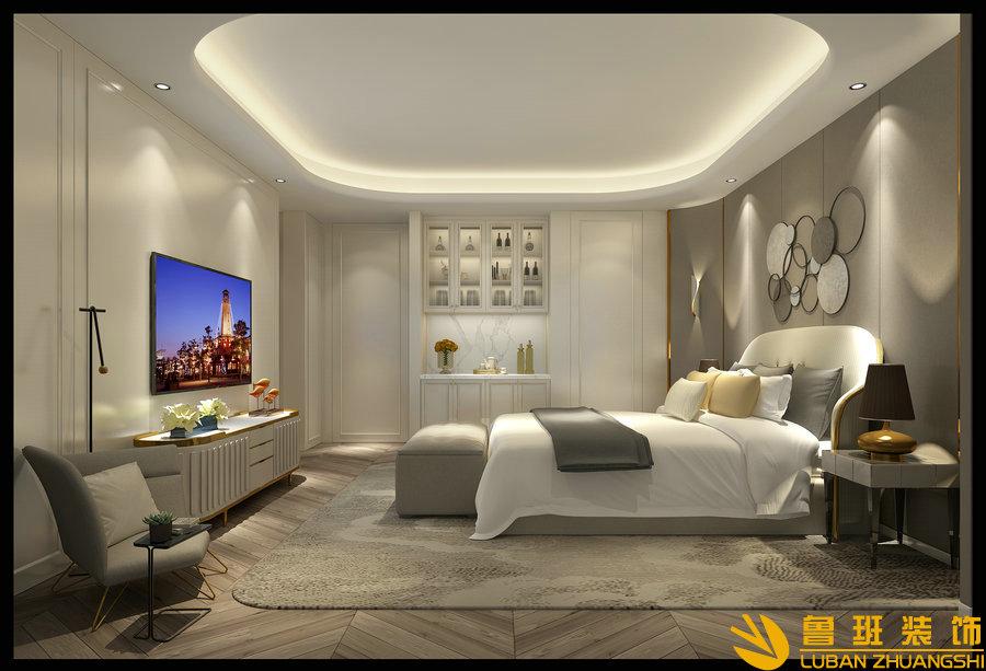西子城林奇磊420别墅设计装修卧室