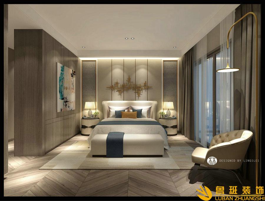 西子城林奇磊420别墅设计装修主卧