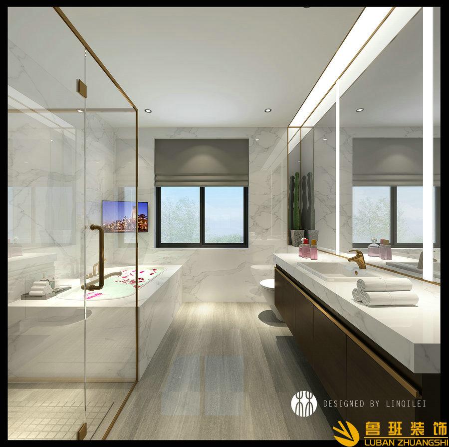 西子城林奇磊420别墅设计装修卫生间
