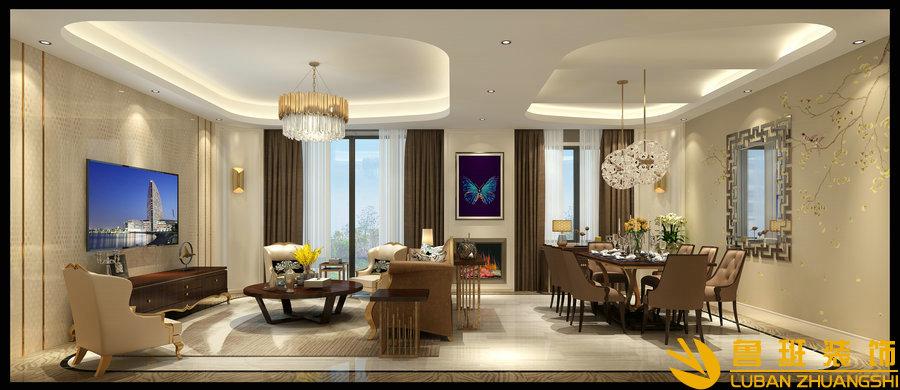 西子城林奇磊420别墅设计装修餐厅