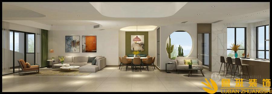 御今缘 300平现代时尚别墅装修设计客厅