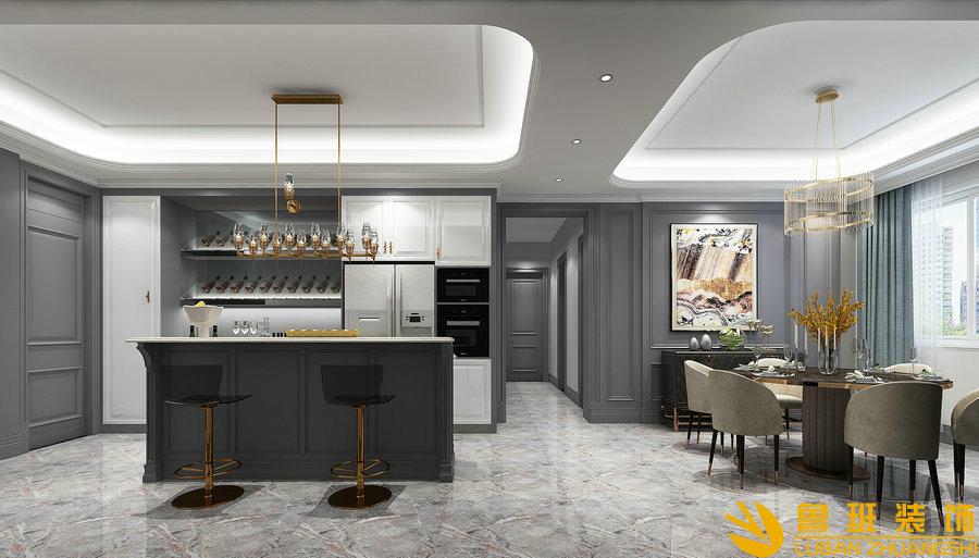 华润.金悦湾217平美式设计装修餐厅