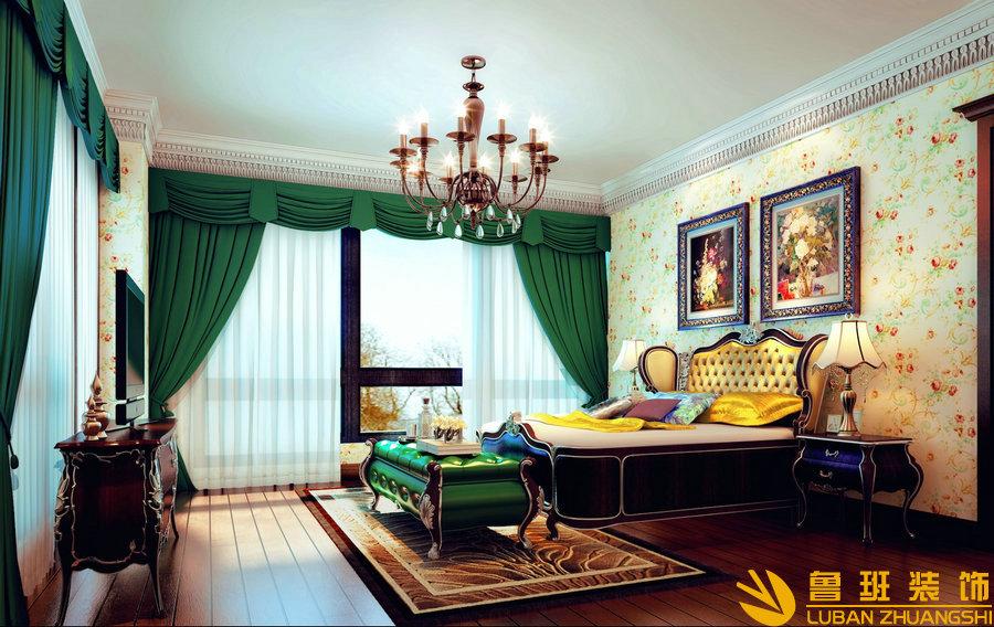 麓山国际.香怡林380美式别墅装修设计主卧