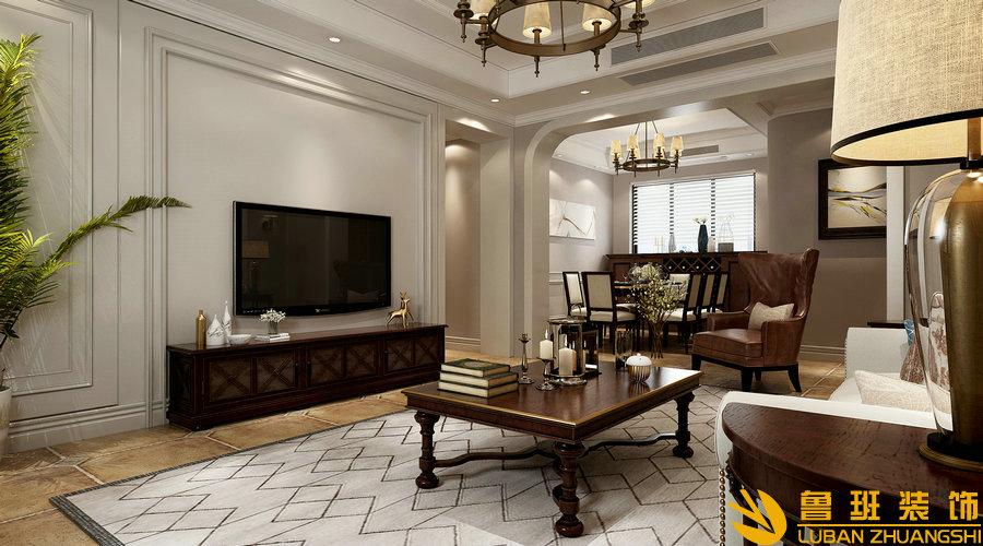南苑183美式设计装修客厅1