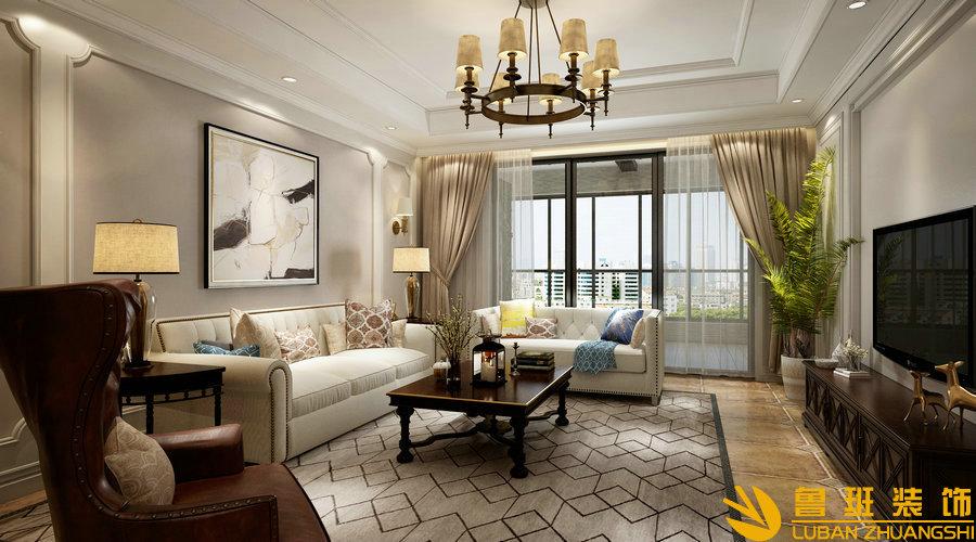 南苑183美式设计装修客厅2