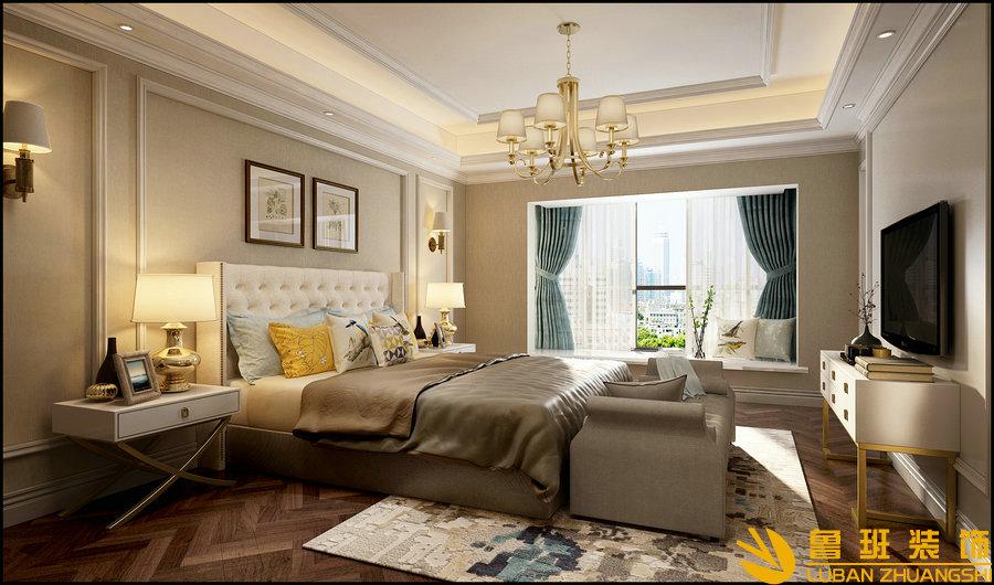 南苑183美式设计装修卧室
