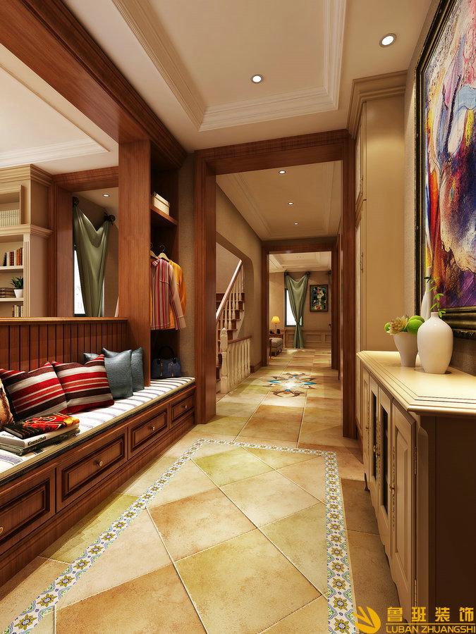 中粮.御嶺湾370平美式别墅设计装修门厅
