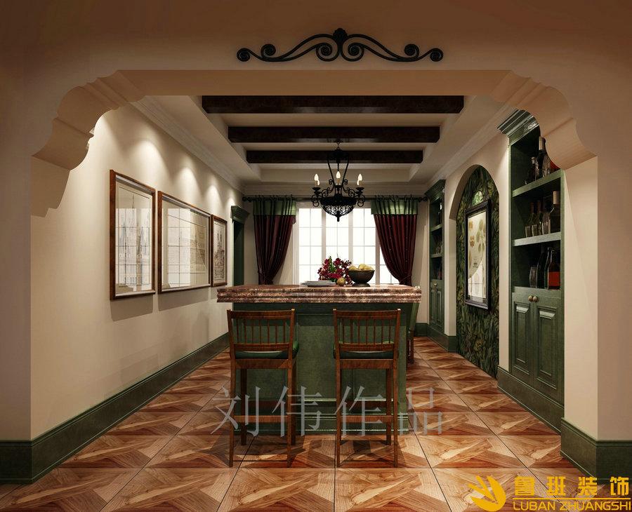 无国界214平大平层美式装修设计厨房