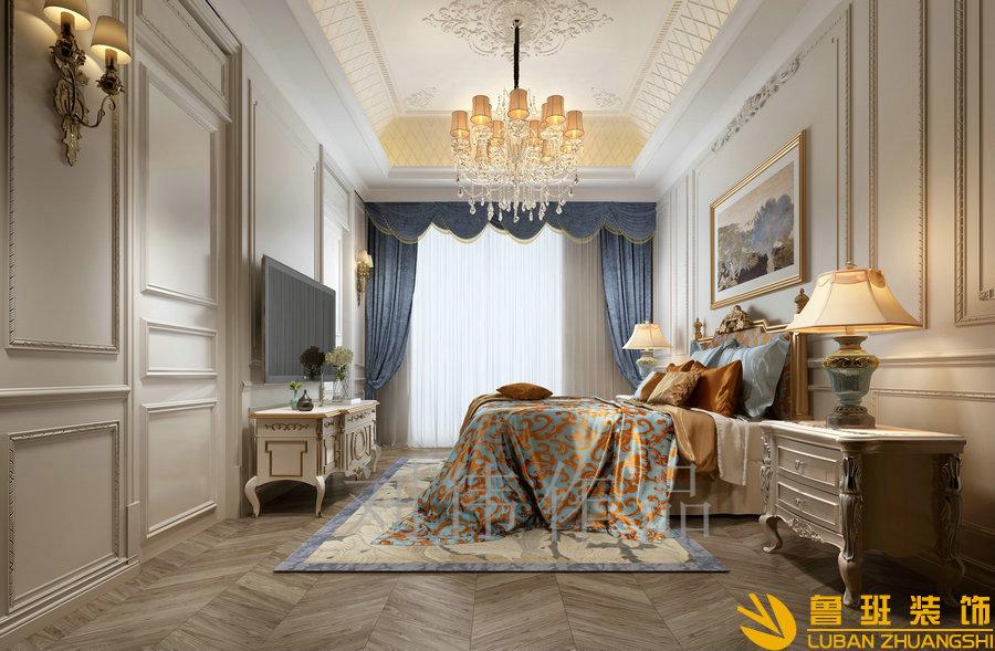 和贵南山上768法式别墅设计装修次卧