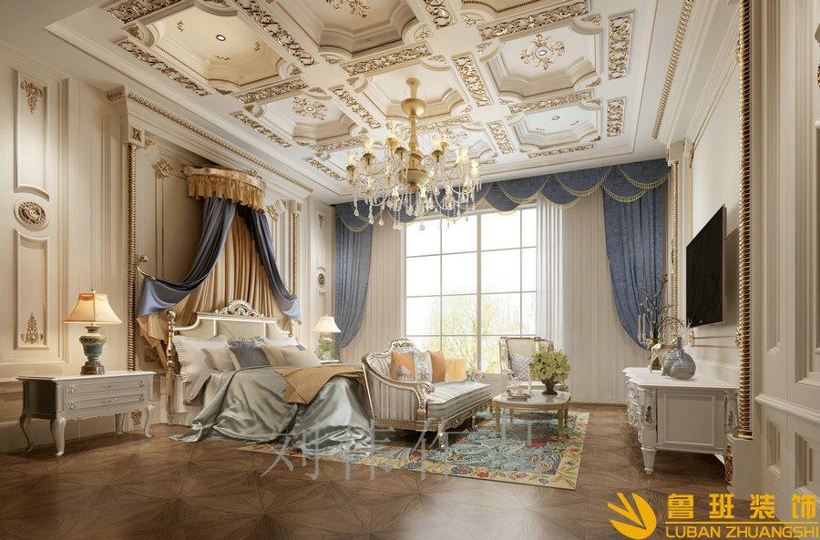 和贵南山上768法式别墅设计装修主卧