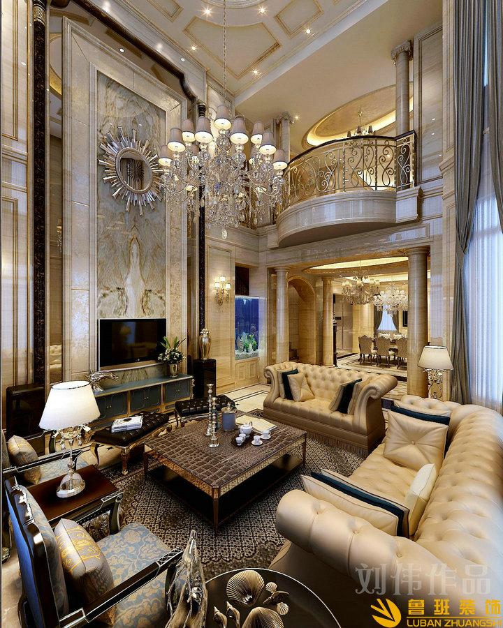 御园340平欧式新古典别墅装修设计客厅