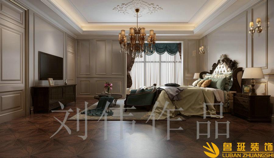 泽瑞西园336平欧式别墅设计装修卧室