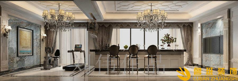 泽瑞西园336平欧式别墅设计装修酒吧