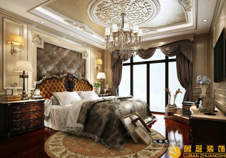 广元碧桂园400平欧式别墅装修设计卧室
