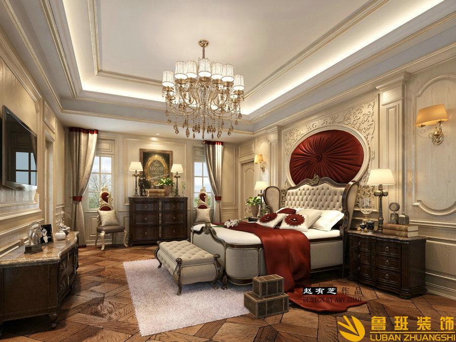 建发.浅水湾600平独栋法式别墅设计装修卧室