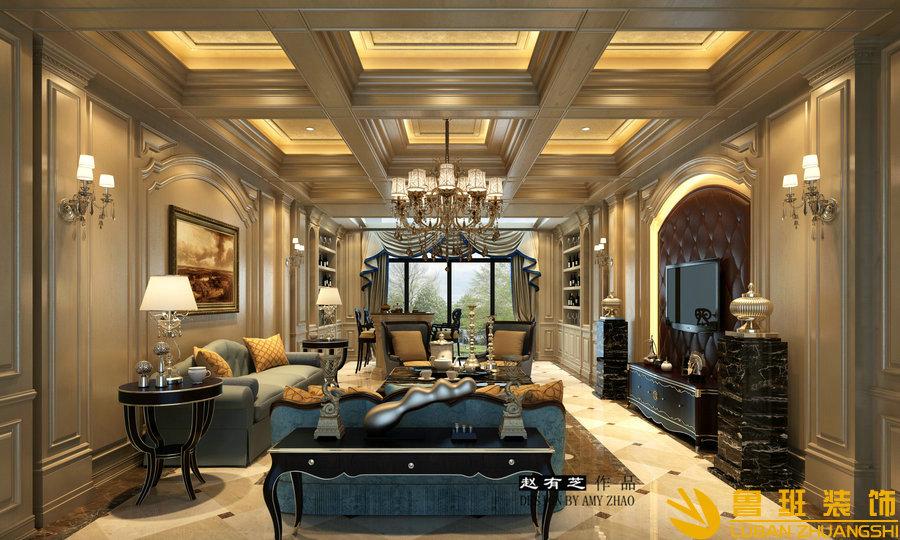建发.浅水湾600平独栋法式别墅设计装修地下室