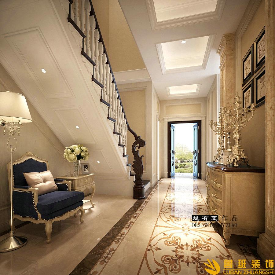 锦绣花园400平独栋别墅设计装修门厅