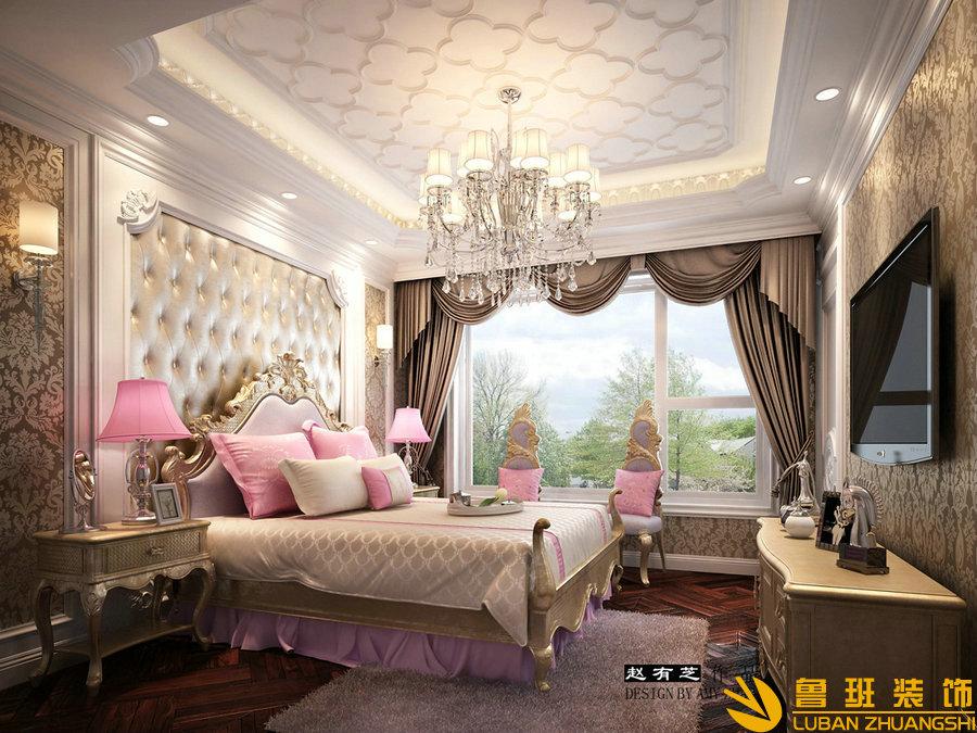 锦绣花园400平独栋别墅设计装修女儿房