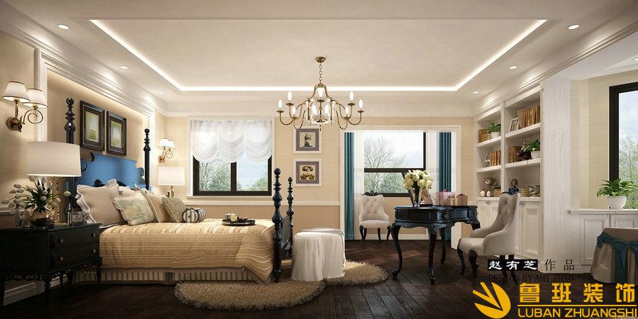 银泰花园400美式别墅设计装修休闲厅