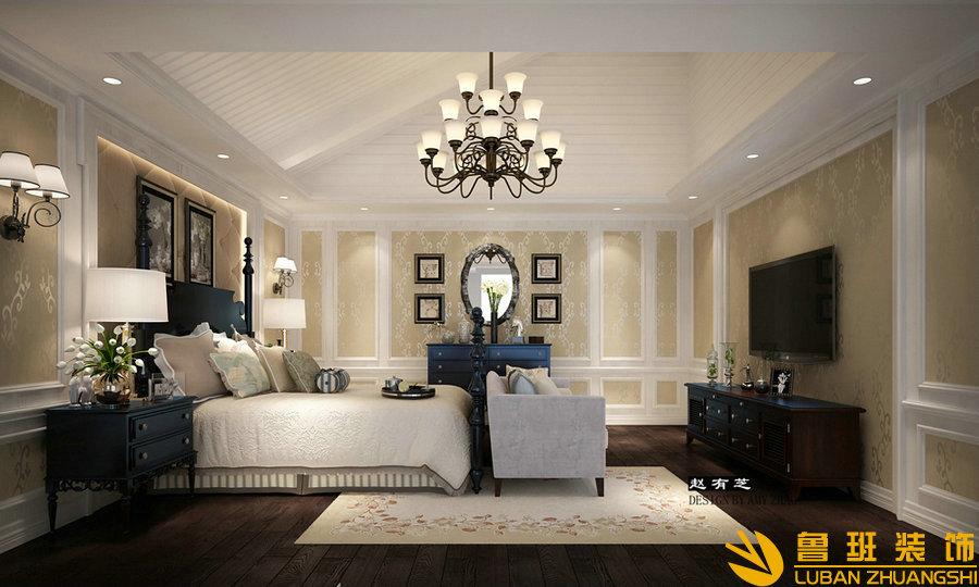 银泰花园400美式别墅设计装修主卧