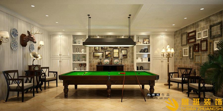 远大林语城420美式别墅设计装修地下室