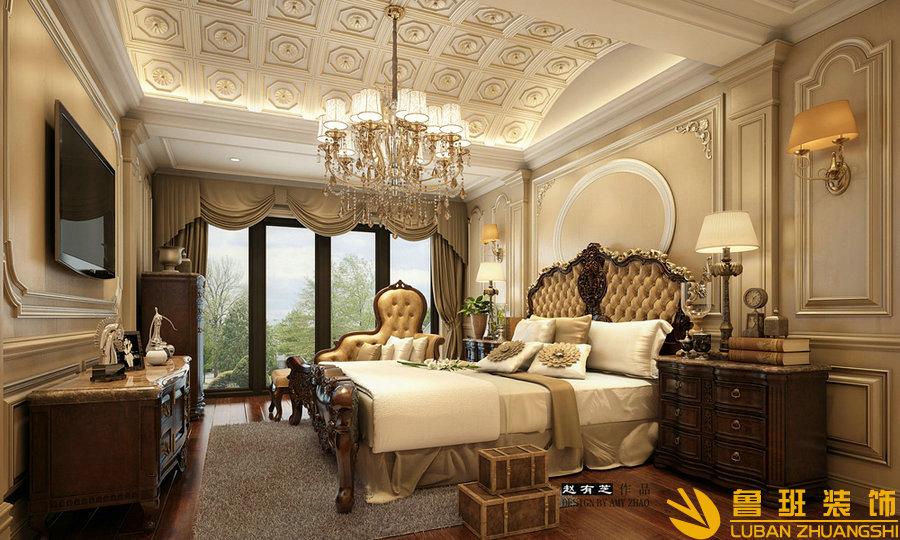 远大林语城280欧式别墅设计装修卧室