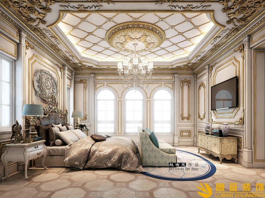 亚特兰蒂斯500法式独栋别墅设计装修卧室