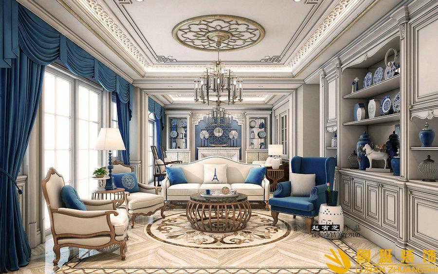 亚特兰蒂斯500法式独栋别墅设计装修休闲厅