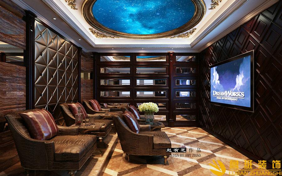 亚特兰蒂斯500法式独栋别墅设计装修影音室