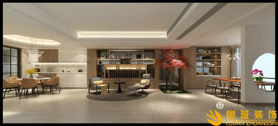 半山爱马仕400现代别墅设计装修餐厅