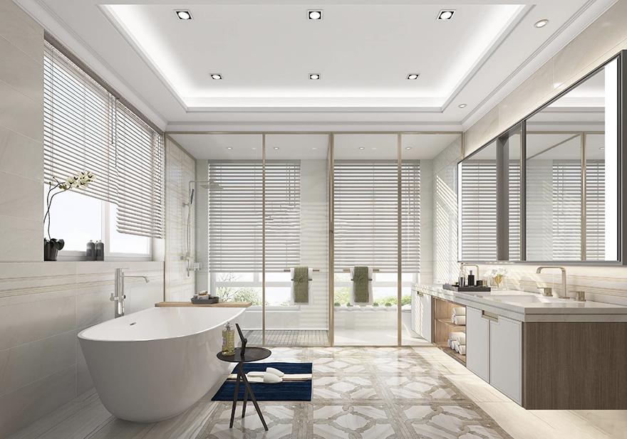 雅居乐600平中式别墅装修设计主卫