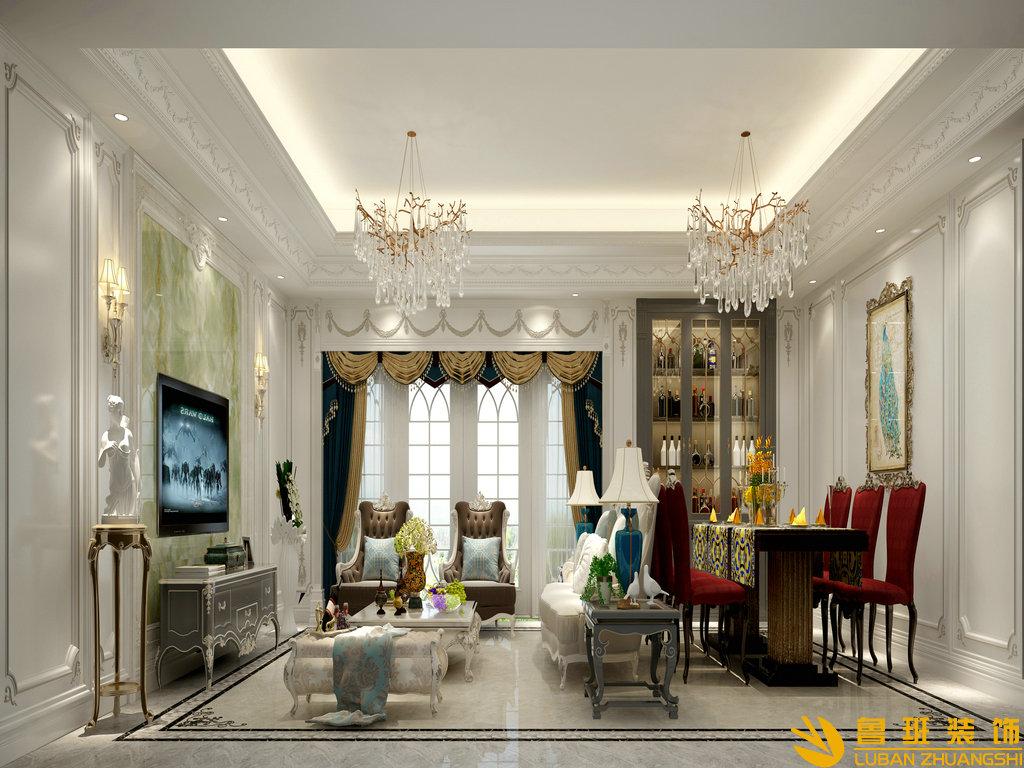 紫檀轩153平米大平层装修设计效果图