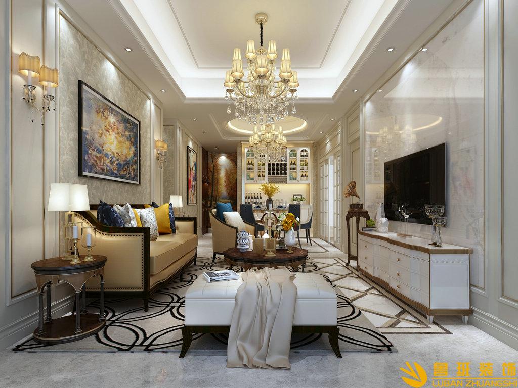 龙湖紫宸120平米新房设计装修效果图