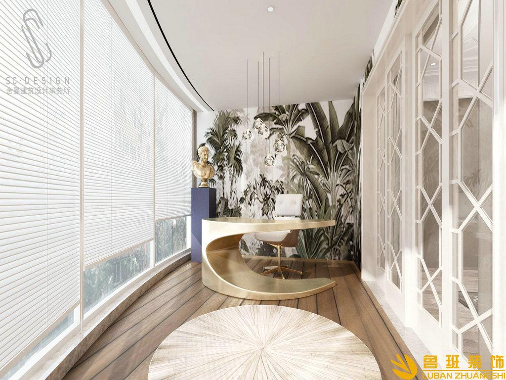 龙湖世纪峰景385平别墅装修设计休闲厅