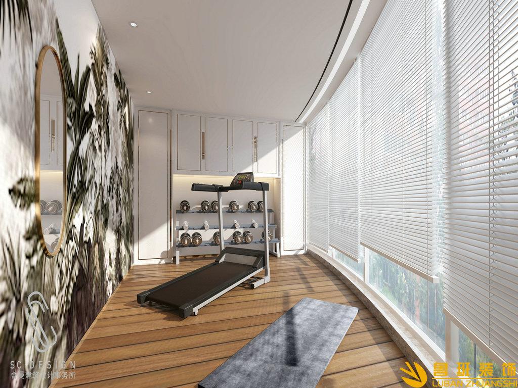 龙湖世纪峰景385平别墅装修设计健身房