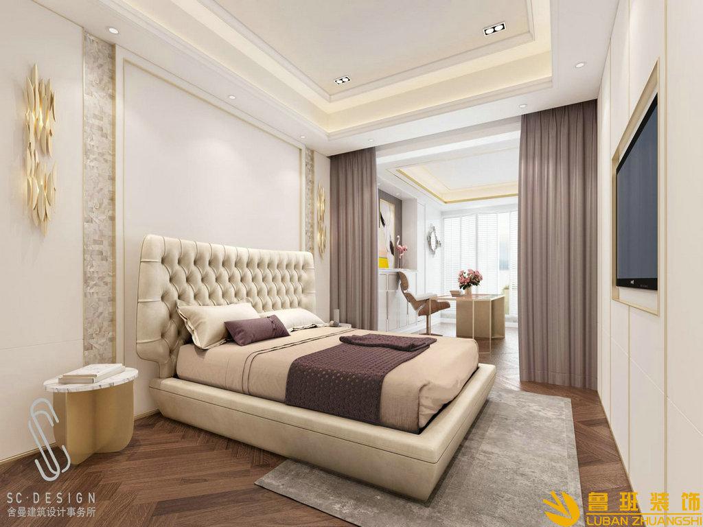 龙湖世纪峰景385平别墅装修设计卧室