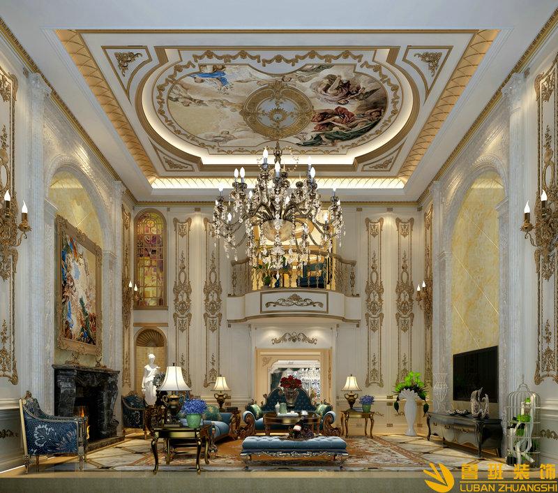 牧马山蔚蓝卡地亚800平米别墅装修效果图 法式风格设计案例