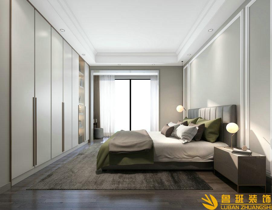保利198平层145平装修设计卧室