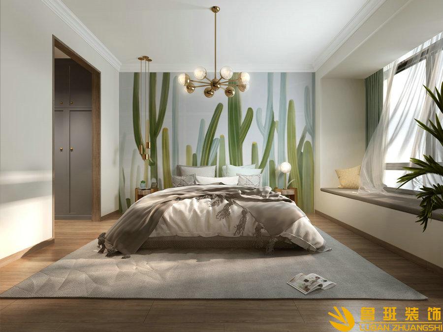 中州中央公园120平法式设计装修卧室
