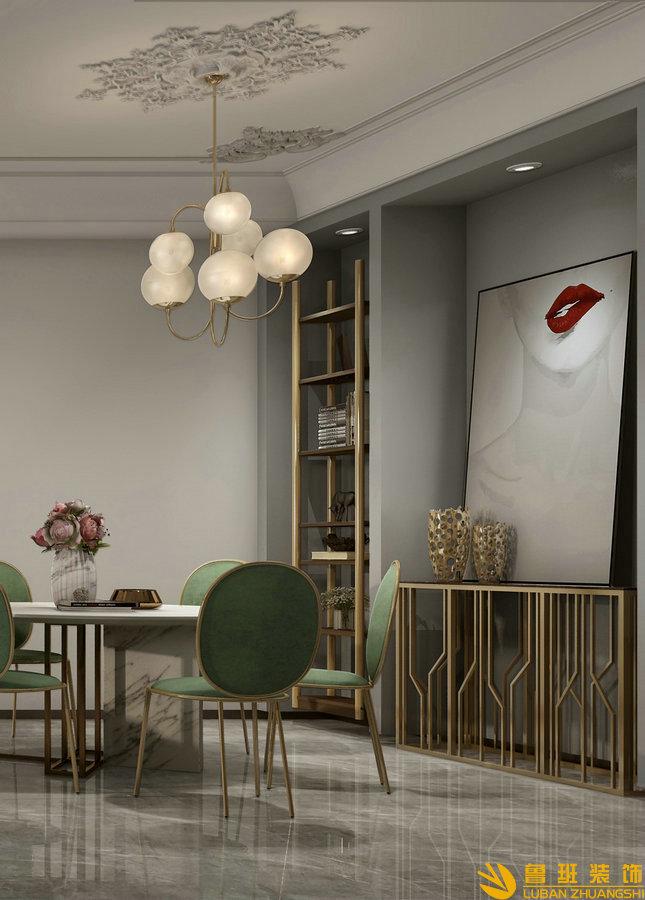 中州中央公园120平法式设计装修餐厅